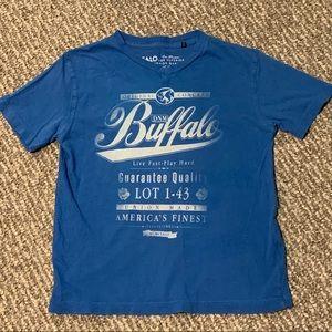 🍁3/$15 Blue David Bitton Buffalo V-Neck Tee